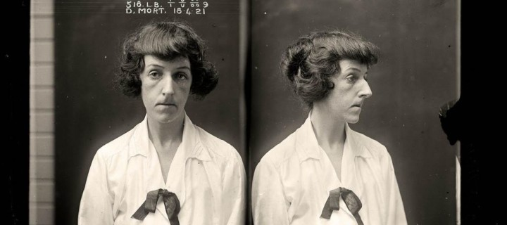 Glass Plate Female Mugshots from Australia