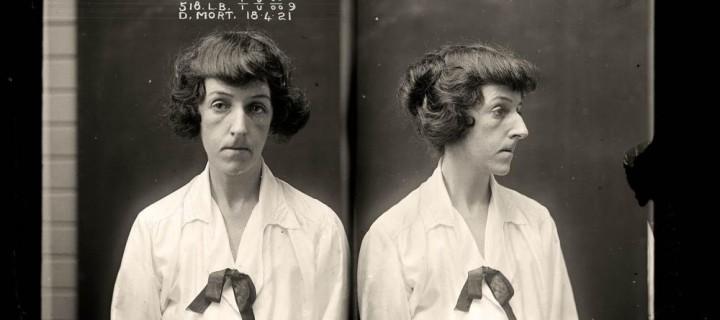Glass Plate Female Mugshots from Australia