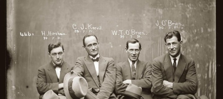 40 Glass Plate Mugshots from the 1920s