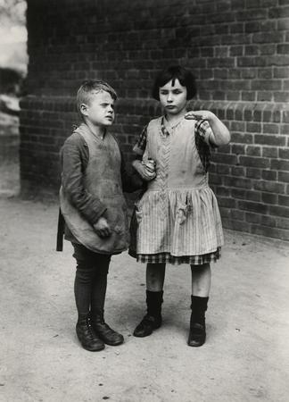 © August Sander - Children in a home for the blind (Duren 1930).