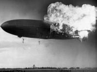German zeppelin Hindenburg disaster (1937)