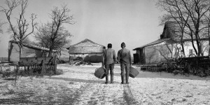 Two Identical Twin Farmers At The End Of Their Lives