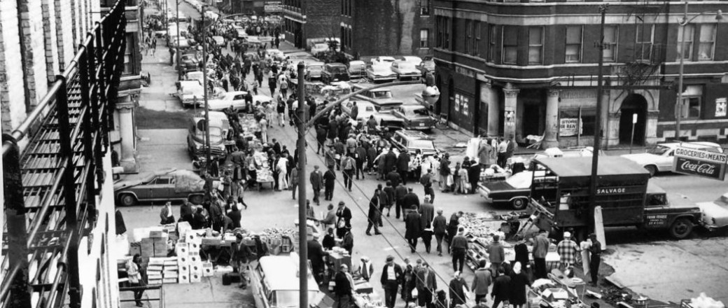 Vintage: Open-air bazaar in Chicago