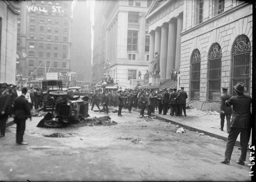 Vintage Wall Street Bombing In 1920 Monovisions