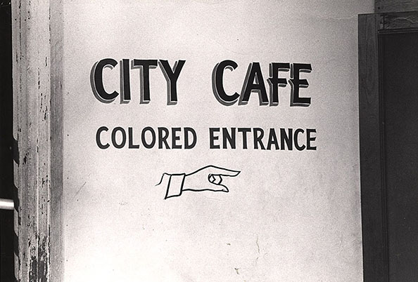 Danny Lyon Entrance to the City Cafe, Selma, 1963