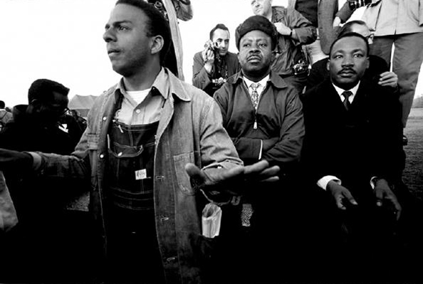 Steve Schapiro Andrew Young, MLK, Jr., and Ralph Abernathy in Wagon, Selma 1965