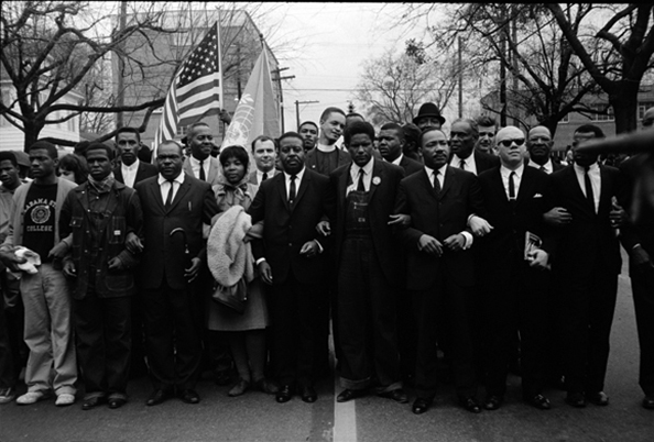 Steve Schapiro Martin Luther King Jr. and Group Entering Montgomery, 1965