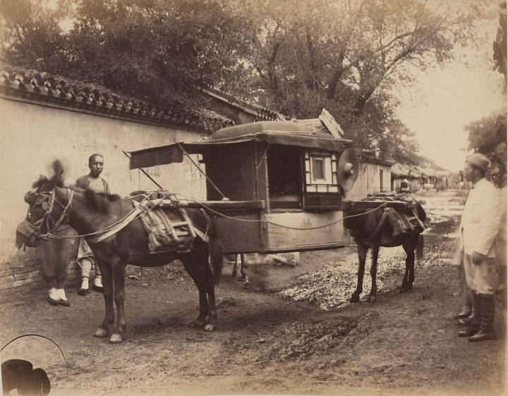 China-1889-1891-Mule Litter