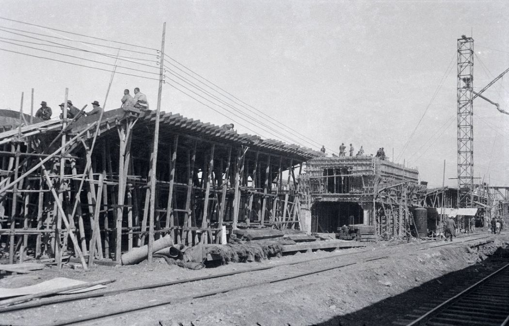 Manchuria-Northeast-Asia-in-1930s-Station Construction