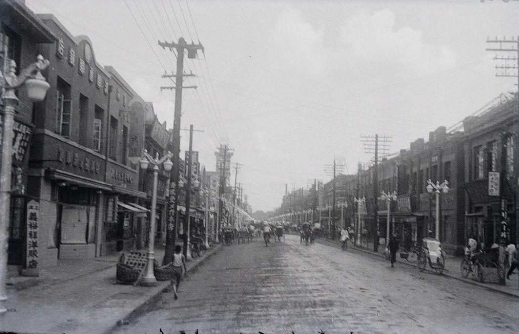 Manchuria-Northeast-Asia-in-1930s-Street Scene Mukden