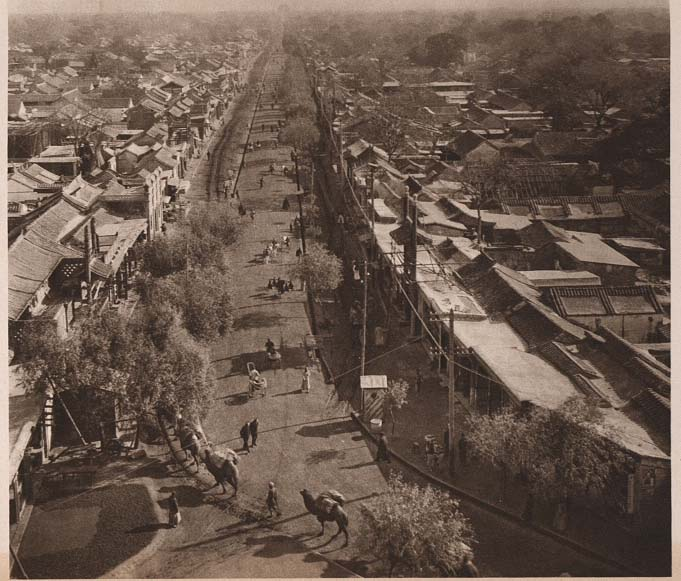 Peking-China-in-1920s-A Street in the Tartar City