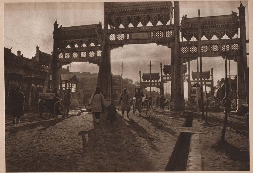Peking-China-in-1920s-Evening in the Streets