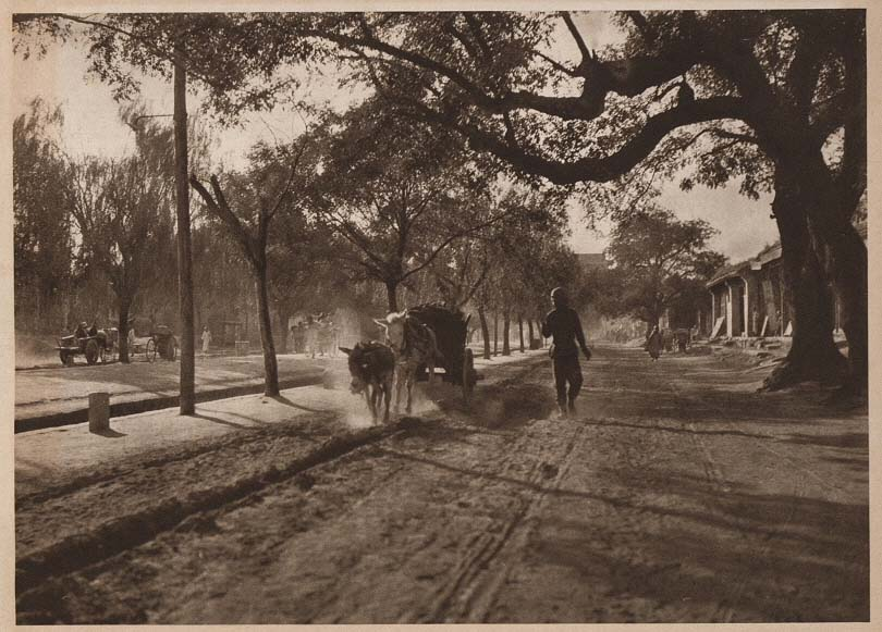 Peking-China-in-1920s-The Old Cart road - Hsi Chih Men