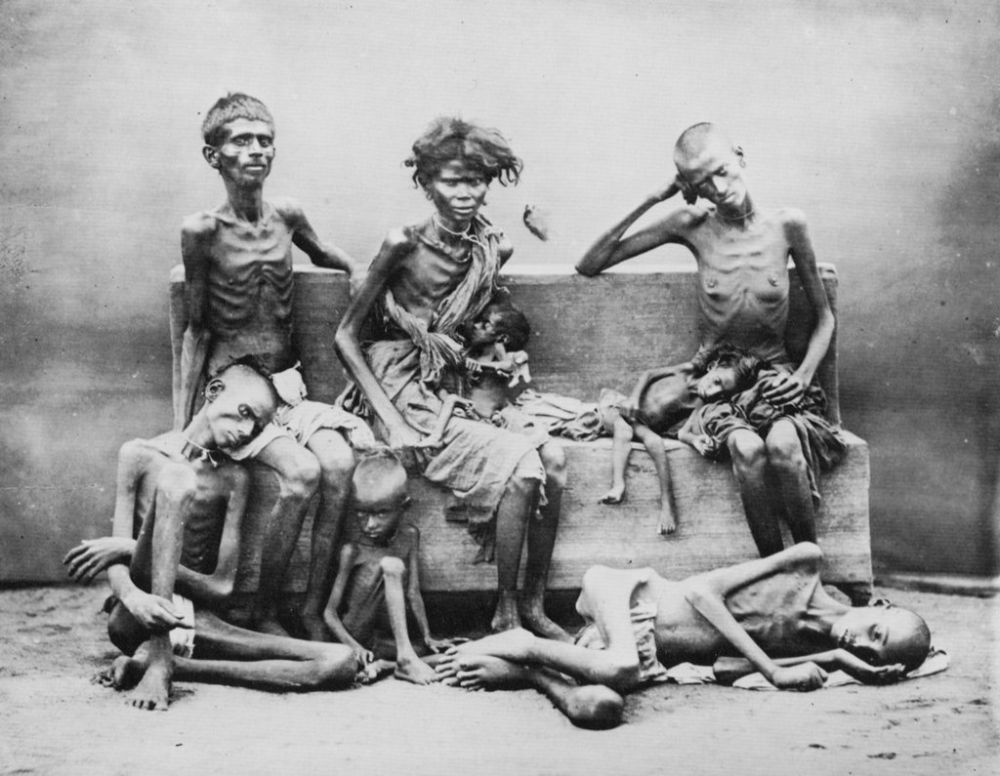 Portrait of victims of the famine in the province of Madras, India by Willoughby Wallace Hooper
