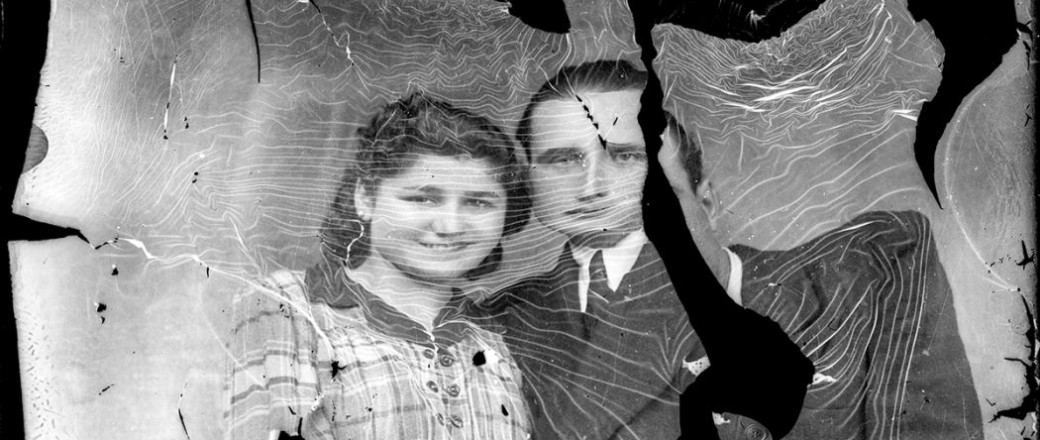 Broken Glass-Plate Portraits from Romania (1940s)