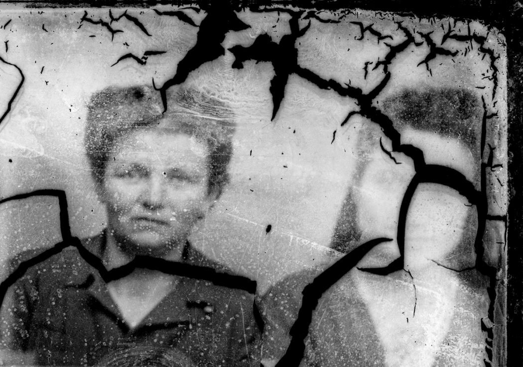Broken glass plate portraits from romania 1940s costică acsinte public domain