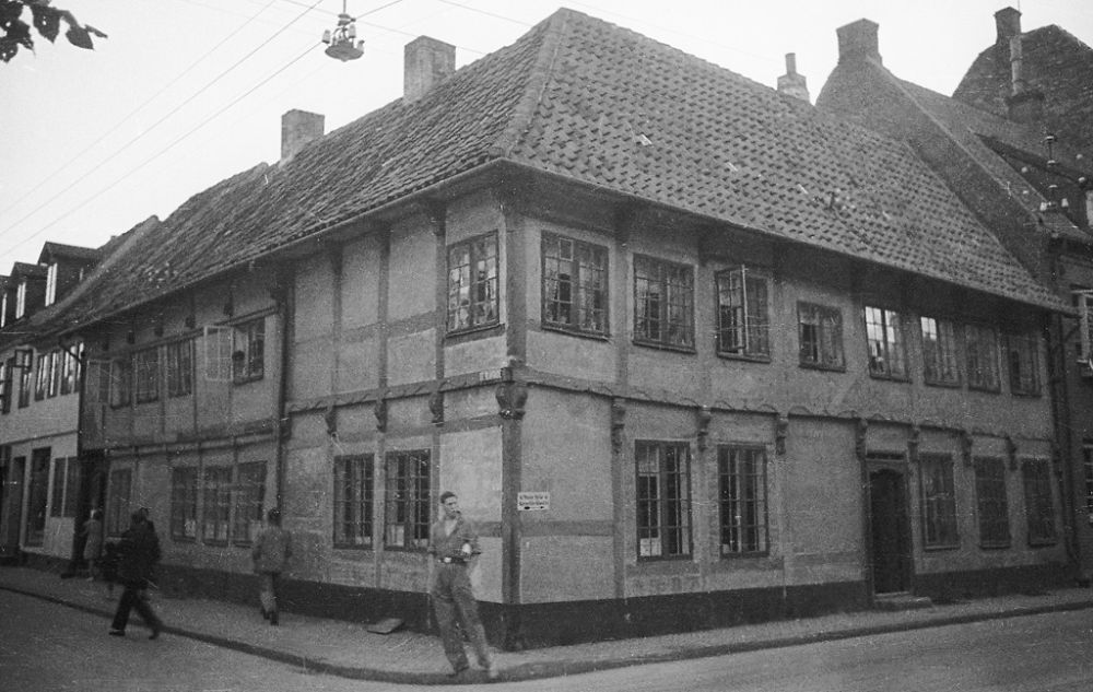 Half-timbered house in Helsingoer. 1933