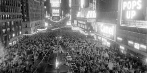 Times Square in 1940s and 50s