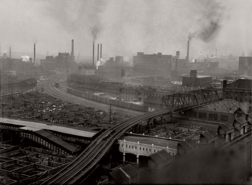Stock Yards and Railway, Chicago, Illinois, 1926, photo: Emil Otto Hoppé
