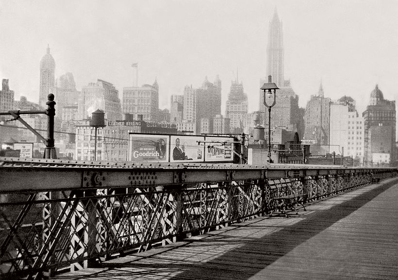 Manhattan from the Brooklyn Bridge, New York City , 1925, photo: Emil Otto Hoppé