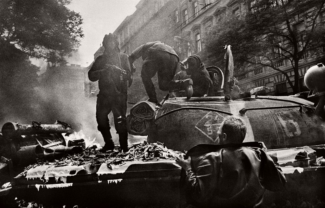 CZECHOSLOVAKIA. Prague. August 1968. Invasion by Warsaw Pact troops near the Radio headquarters.