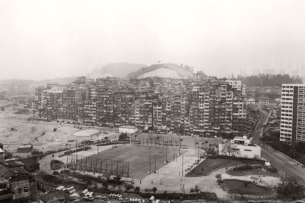 An overview of the notorious Kowloon Walled City.