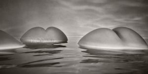 Black and White Nude Icebergs by Harry Fayt