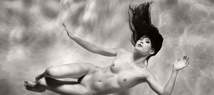 Black and White Underwater Nudes by Harry Fayt