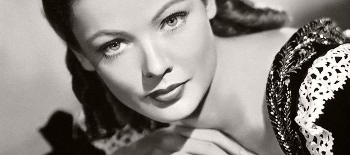 Vintage: Classic Portraits of actress Gene Tierney (1940s)