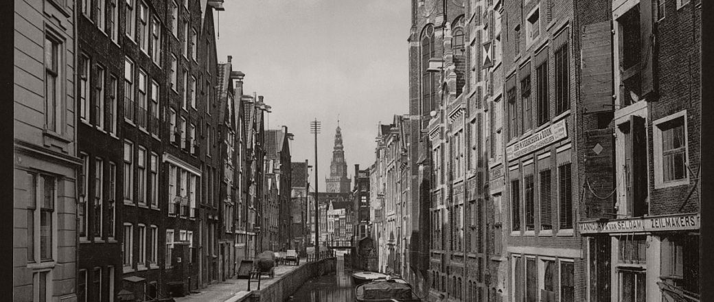 Historic B&W photos of Amsterdam, Holland in the 19th Century
