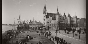 Historic B&W photos of Antwerp, Belgium (19th century)