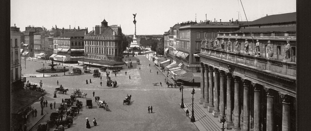 Historic b w photos of bordeaux france 19th century for W architecture bordeaux
