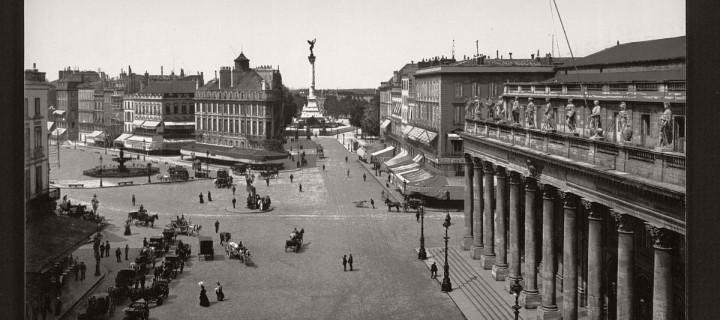 Historic B&W photos of Bordeaux, France (19th century)