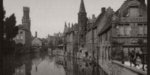 Historic B&W photos of Bruges, Belgium (19th Century)