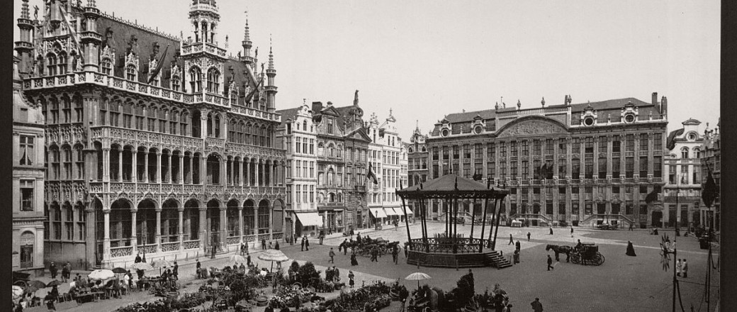 Historic B&W photos of Brussels, Belgium in the 19th Century