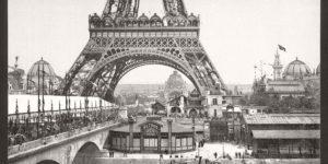 Historic B&W photos of Paris, France, late 19th Century