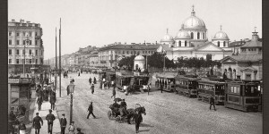 Historic B&W photos of St. Petersburg, Russia in the 19th Century