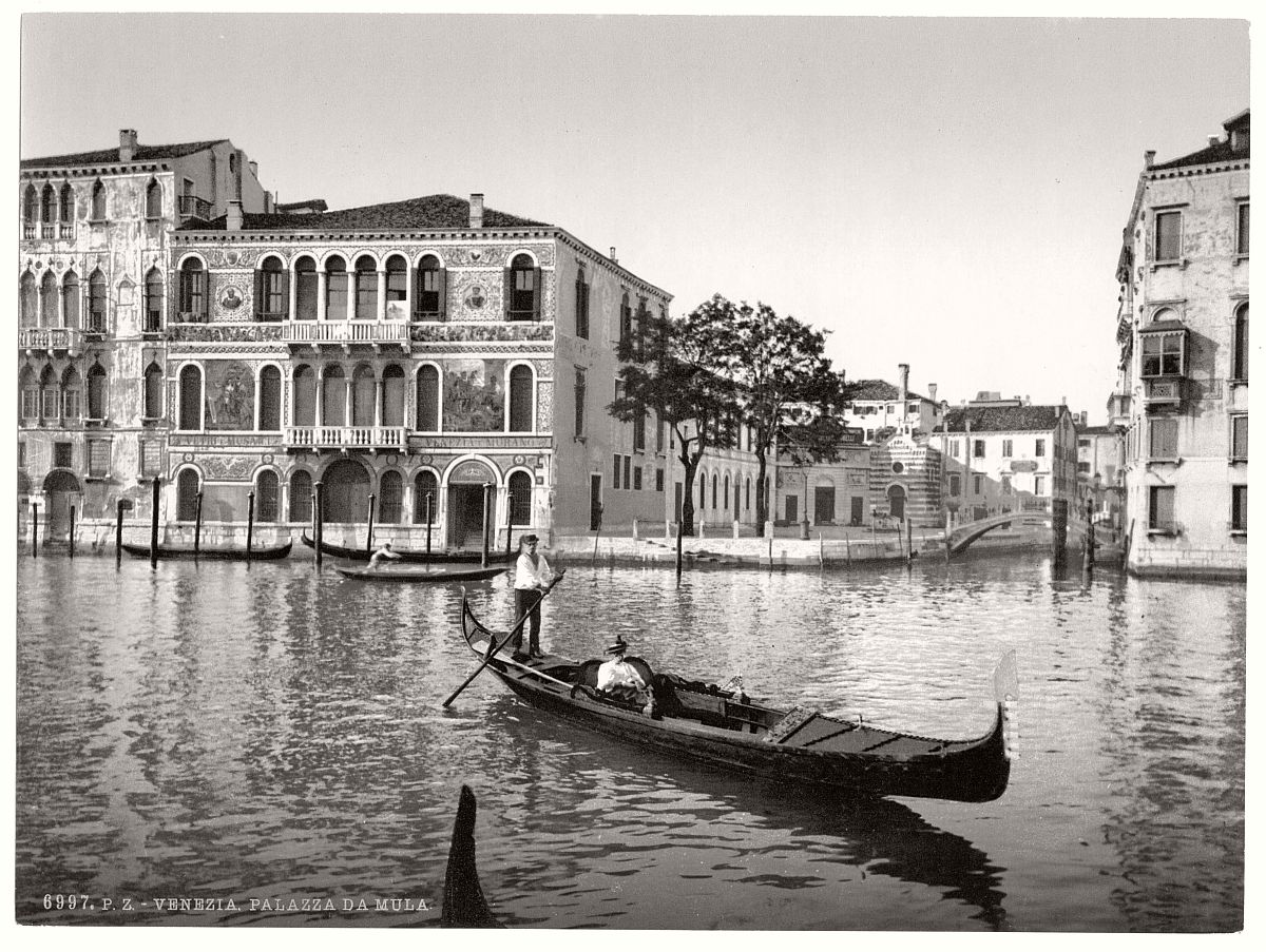 Historic b w photos of venice italy 19th century for Italy b b