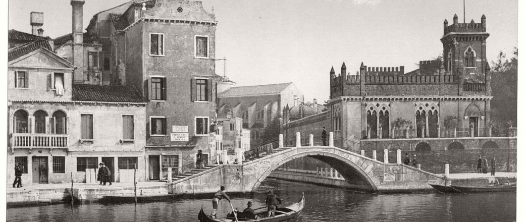 Historic B&W photos of Venice, Italy (19th century)