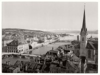 Historic B&W photos of Zurich, Switzerland (19th century)