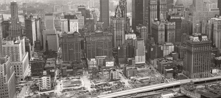 Historic images of Twin Towers – World Trade Center Construction (1960s and 1970s)