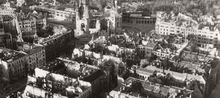 Vintage: Aerial Photos of Berlin, Germany after World War II (1945)