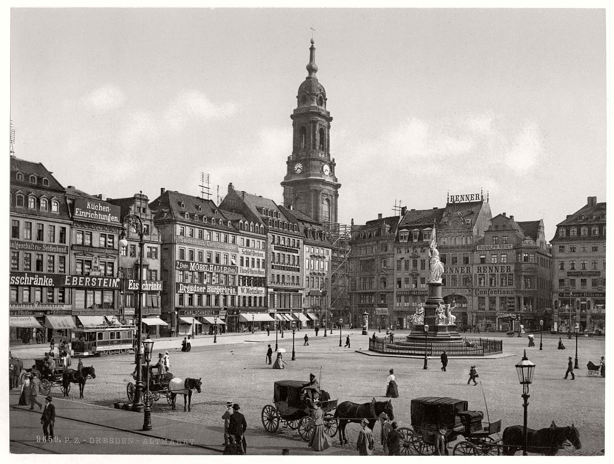 vintage altstadt dresden saxony germany in the late 19th century monovisions. Black Bedroom Furniture Sets. Home Design Ideas