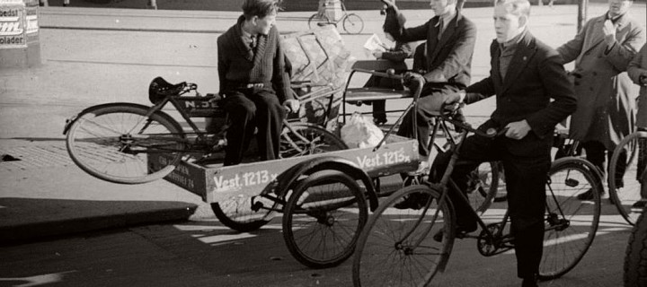Vintage: Bicycles in Copenhagen, Denmark (1910s-1950s)