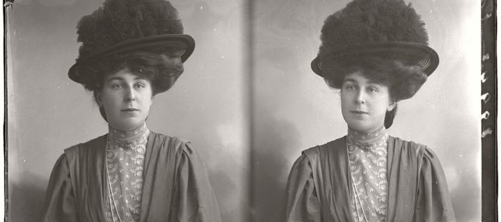 Vintage Glass Plate diptych portraits of Women & Girls (1904-1917) part II