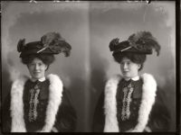 Vintage Glass Plate diptych portraits of Women & Girls (1904-1917)