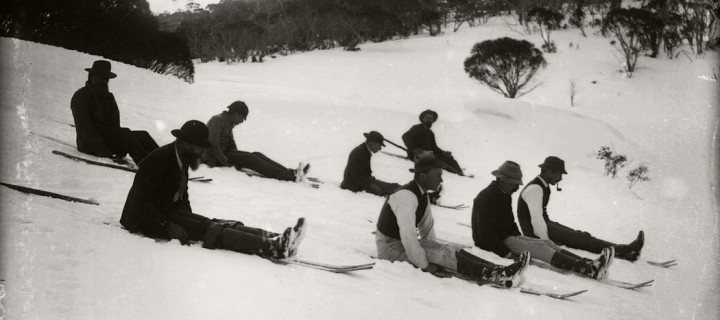 Vintage Glass Plate negatives of Snow in Australia (1900s)