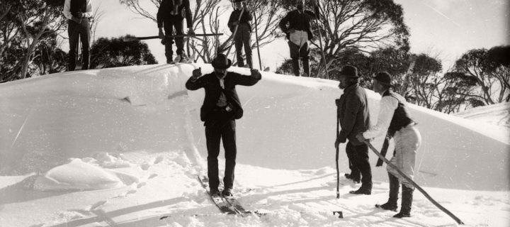 Vintage: Glass Plate negatives of Snow in Australia (1900s)
