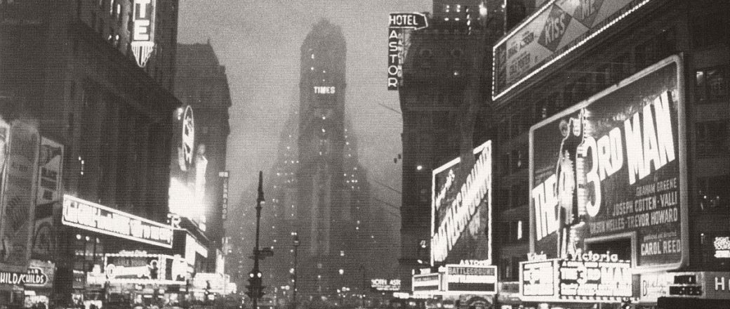 Vintage: historic B&W Streets of New York City (1940s)