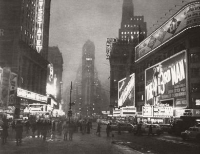 Vintage: historic B&W Streets of New York City (1940s)